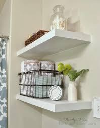 storage u0026 organization 3 white floating shelves with different