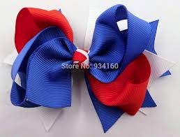 white and blue bows aliexpress buy 4 5 royal blue white boutique girl bow