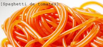 recette cuisine moleculaire recette de spaghettis de tomate et fève de tonka cuisine