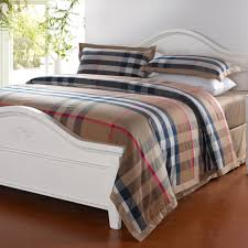 bedroom popular western bedding sets wholesale with plaid bedding
