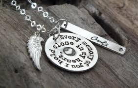 personalized remembrance jewelry custom memorial jewelry necklace sterling silver