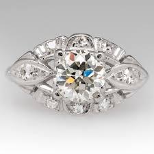 platinum vintage rings images Vintage engagement rings antique diamond rings eragem jpg
