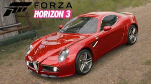 alfa romeo 8c driving around in forza horizon 3 4 alfa romeo 8c