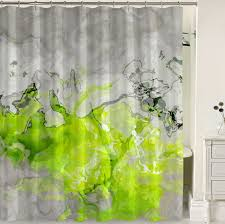 Green And Gray Shower Curtain Contemporary Shower Curtain Lime Green Yellow Green Warm Gray