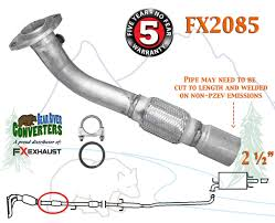 fx2085 semi direct fit exhaust flange repair flex pipe replacement