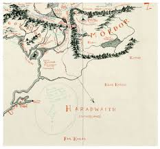 Earth Maps Map Of The Middle Earth With Tolkien U0027s Annotations Found