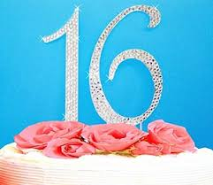 16 cake topper sweet 16 or sweet 15 cake top quinceanera cake topper