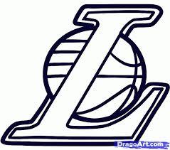 la lakers logo print color coloring