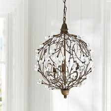 How To Make A Beaded Chandelier Romantic Sphere Chandelier Pbteen