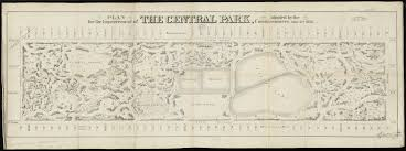 Map Central Park Plan For The Improvement Of The Central Park Adopted By The