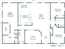 Home Plans Ranch Style Barndominium 30x50 Floor Plans Furthermore House Plans Ranch Style
