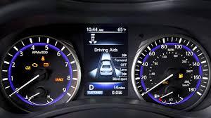 infiniti dashboard warning lights 2015 infiniti q50 hev warning and indicator lights youtube