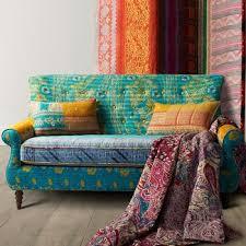 canapé exotique salon meubles deux places canapé exotique tissu canapé kantha