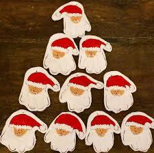 craft corner salt dough santa handprint decorations