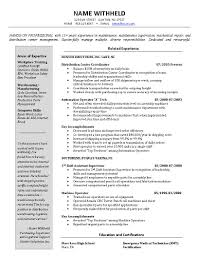Warehouse Resume Template Examples Of Resumes Best Resume Samples For Mechanical Engineers