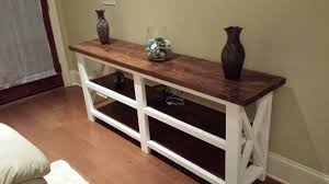 ana white rustic x console table the beginning diy projects