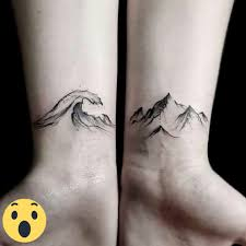 small butterfly tattoos on ankle amazing small tattoo ocean and mountains u2026 pinteres u2026