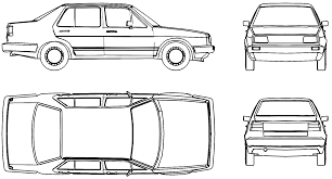 volkswagen drawing car blueprints volkswagen jetta ii 1g blueprints vector