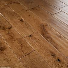 18mm x 125mm scraped tobacco golden oak solid flooring