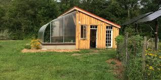 Backyard Cabin Backyard Bioshelter Four Season Passive Solar Greenhouse