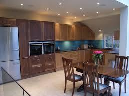 kitchen diner with oak and american dark walnut timber kitchen