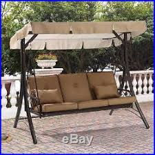outdoor porch swing with canopy steel patio furniture hammock