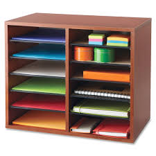 Office Depot Desk Organizers by Safco Adjustable 12 Slot Wood Literature Organizer Saf 9420cy