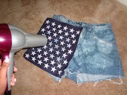 Hair Dryer Glue msstarstyles diy american flag shorts