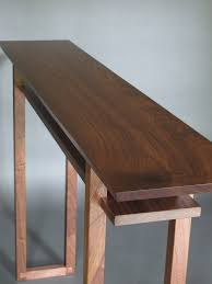 Wood Entry Table Modern Wood Narrow Hallway Table Narrow Console Table Side