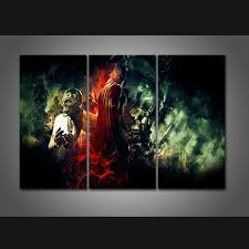 new 3 pieces sets canvas art batman arkham knight canvas paintings