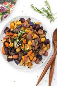 Recipe For Roasted Root Vegetables - roasted root vegetables with fresh herbs eating by elaine