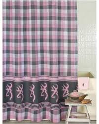 amazing deal on browning buckmark plaid shower curtain