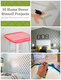 home decor stencils 10 home decor projects with stencils dollar store mom