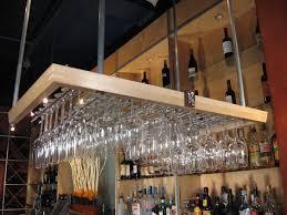 furniture wine bar stemware rack with gold splinter and bottle