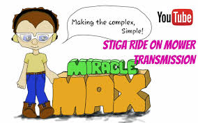 stiga ride on mower transmission miraclemax youtube