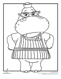 hallie hippo doc mcstuffins coloring woo jr kids