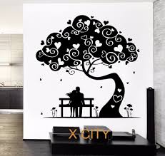 aliexpress com buy love tree hearted romantic lovers wall decal