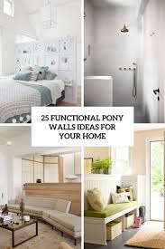 25 bedroom design ideas for your home 25 functional pony walls ideas for your home digsdigs
