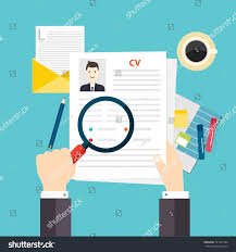 Resume Job by Cv Resume Job Interview Concept Writing Stock Vector 331507424