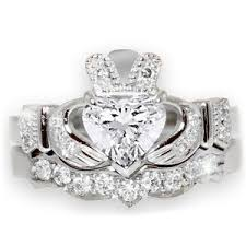Claddagh Wedding Ring by Sparkling Claddagh Engagement Ring Sets Made In Ireland