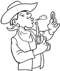 cowboy coloring free printable coloring pages