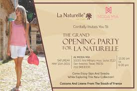boutique inauguration invitation grand opening of la naturelle stylelushtv