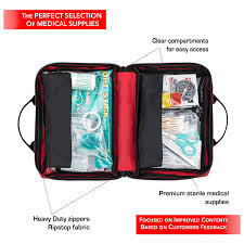 amazon com first aid kit 150 piece for car travel camping