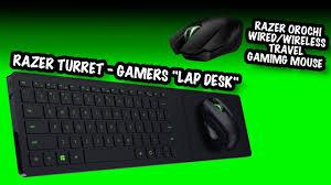 best lap desk for gaming pc couch gaming vs traveling gamer u2013 razer turret u0026 razer orochi