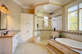 half wall room divider bathroom traditional with large shower