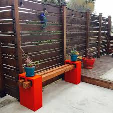 Diy Patio Furniture Cinder Blocks Handmade Cinder Block Bench Made By Me My Diy U0027s Pinterest