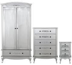 Buy Collection Sophia  Piece  Door Wardrobe Package Silver At - White bedroom furniture set argos
