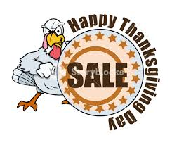 angry turkey thanksgiving day sale banner royalty free stock image