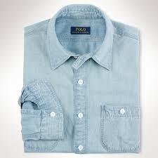 ralph lauren light blue polo ralph lauren light chambray workshirt where to buy how to wear