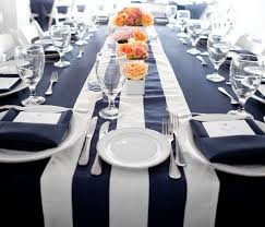 blue and white table runner navy blue and white striped table runners google search tables